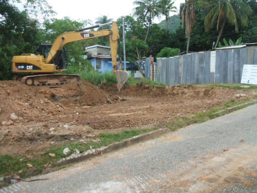 Excavation works for Jacob Street multi-purpose courts